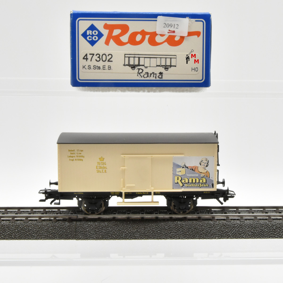 "Roco 47302 Flachdachwagen ""Rama"", (20912)"