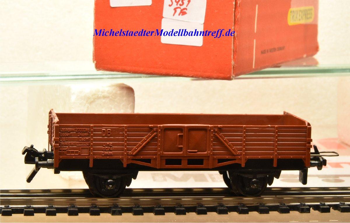 Trix Express 3451 Niederbordwagen der DB, (22129)