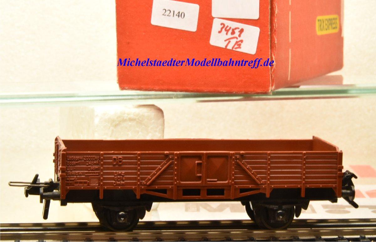 Trix Express 3451 Niederbordwagen der DB, (22140)