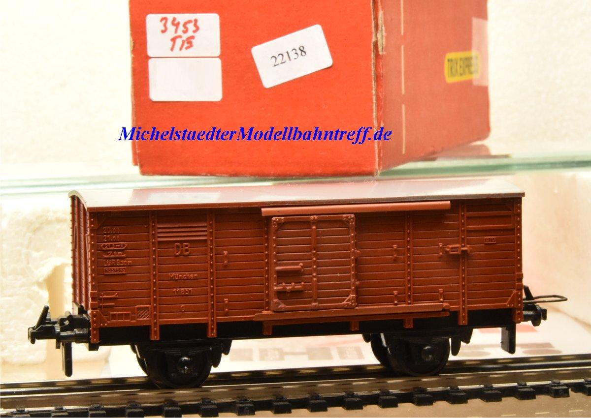 Trix Express 3453 Gedeckter Güterwagen der DB, (22138)