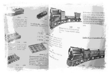 Märklin Modelle und Zubehör vor 1960,