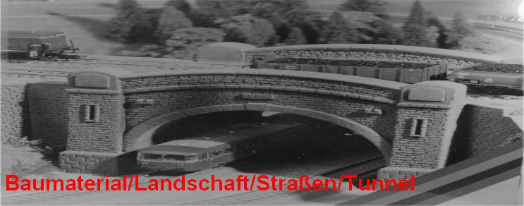 Baumaterial / Landschaft / Straßen / Tunnel