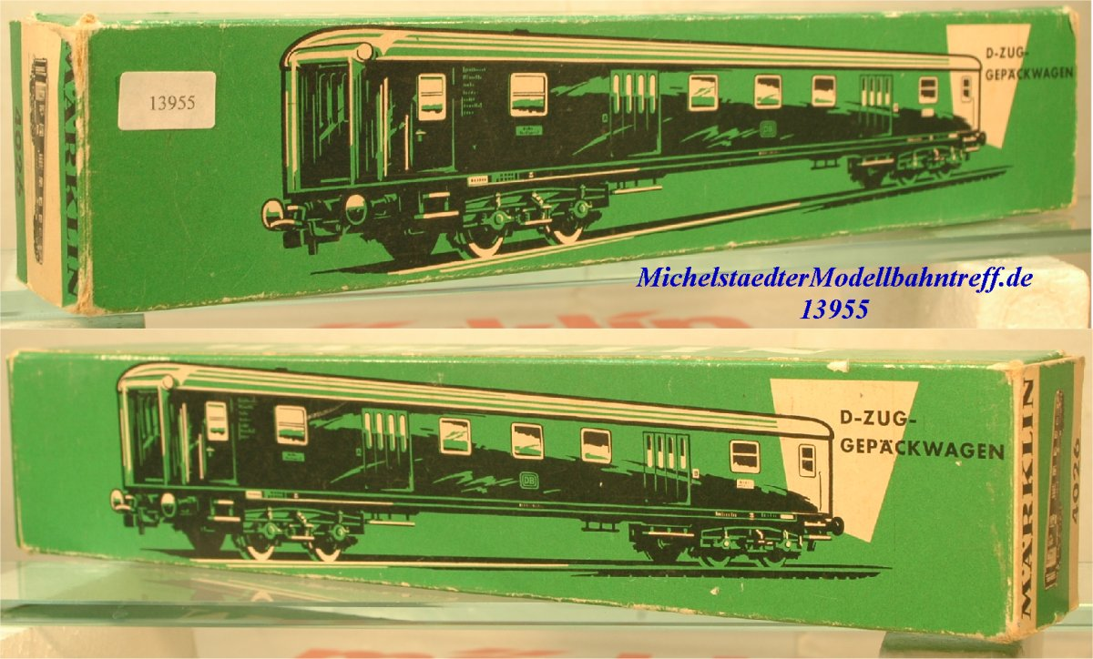 Märklin L 4026 Leerkarton D-Zug-Gepäckwagen (13952)