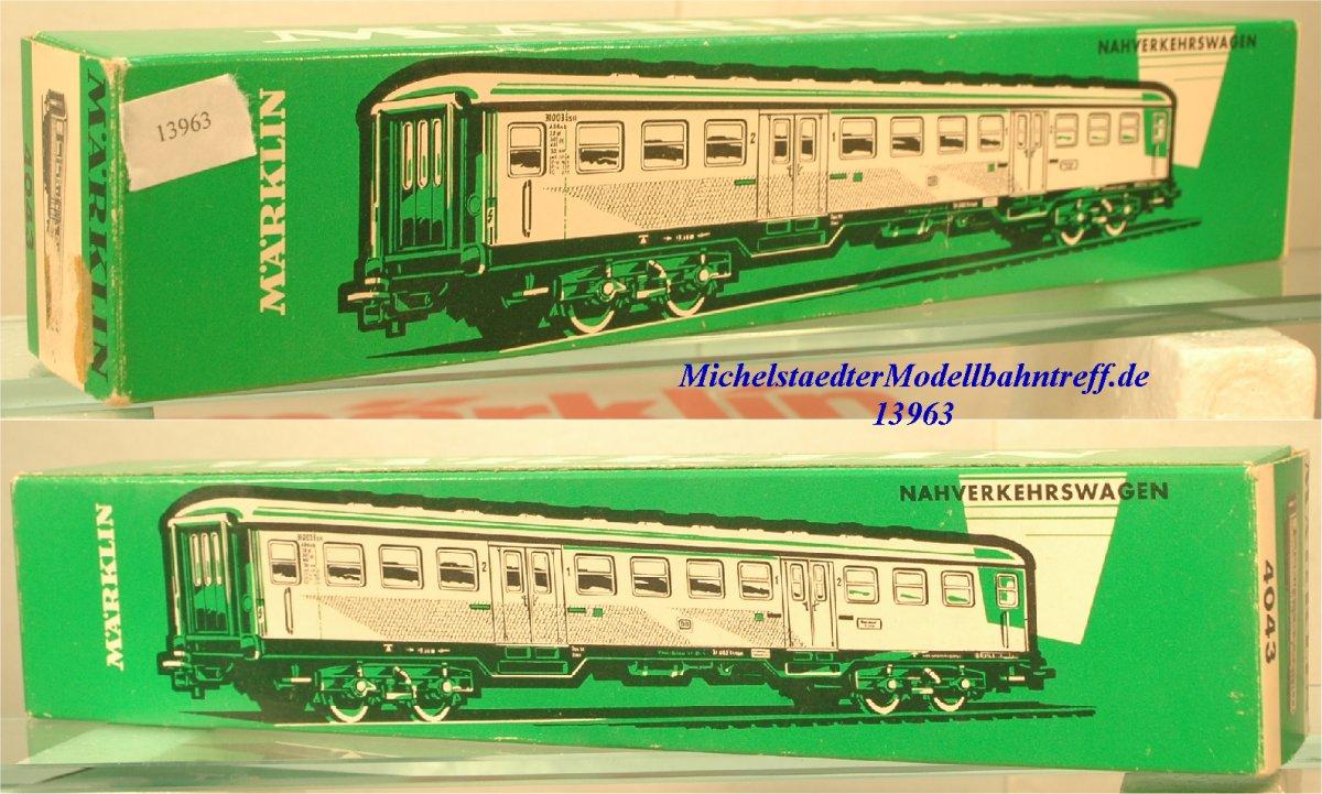 """Märklin L 4043 Leerkarton Nahverkehrswagen """"Silberling"""" (13963)"""