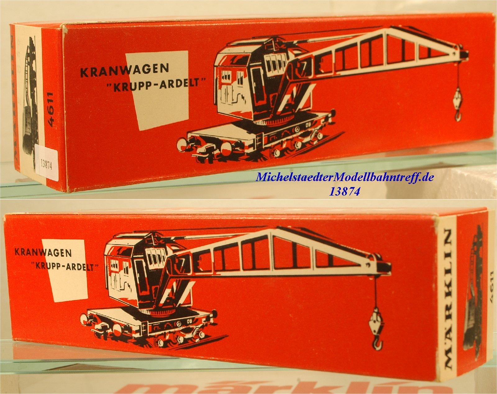 Märklin L 4611 Leerkarton Kranwagen, (13874)