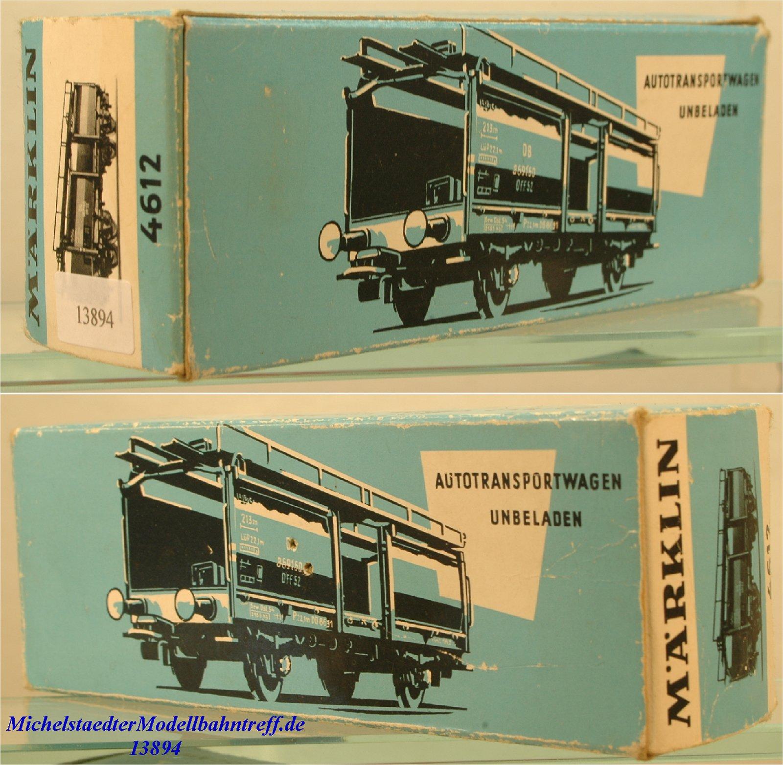 Märklin L 4612 Leerkarton Autotransportwagen unbeladen, (13894)