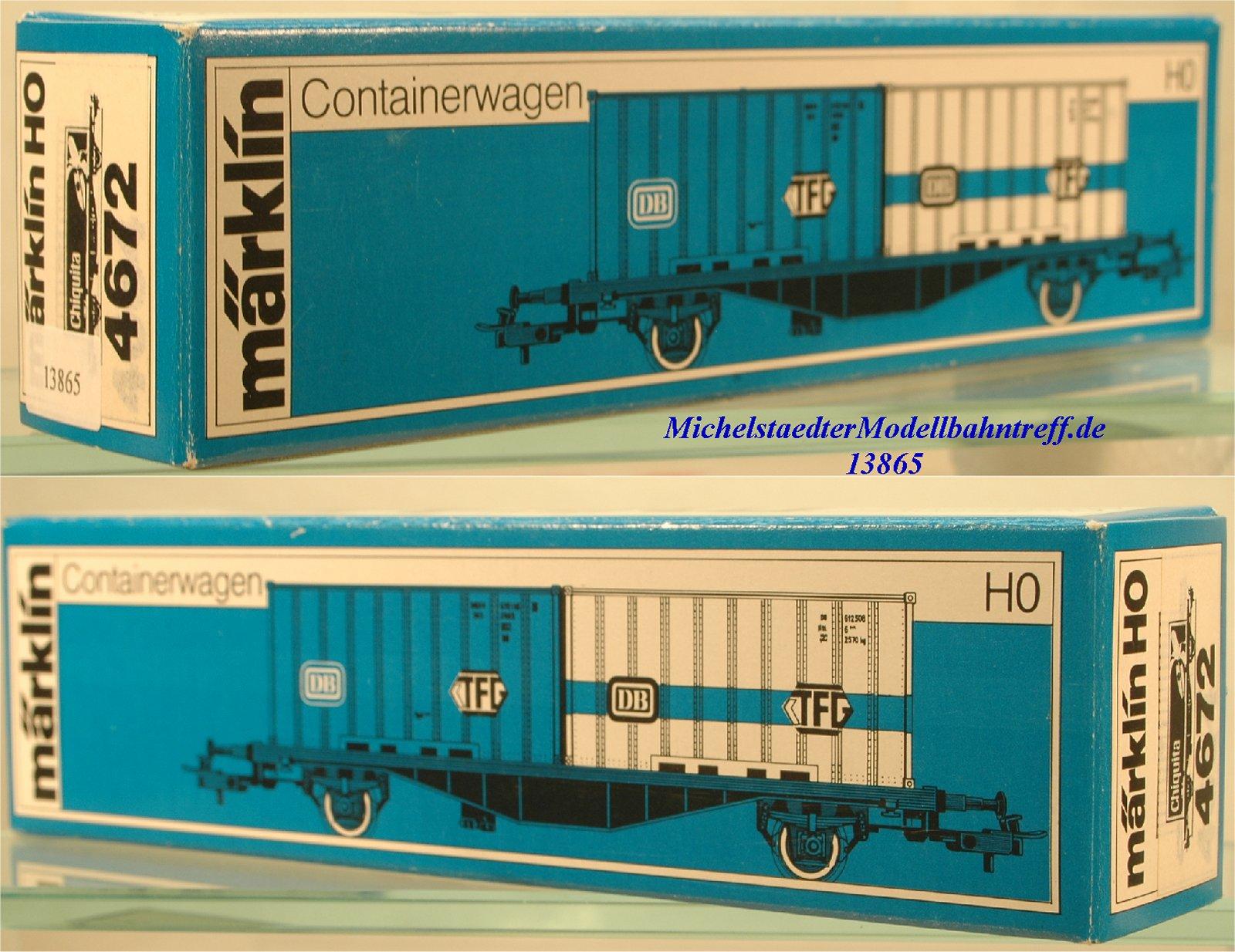 "Märklin L 4672 Leerkarton Containerwagen ""Chiquita"", (13865)"
